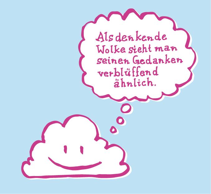 denkende wolke oder wolke mit denkblase